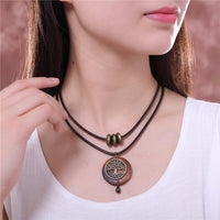 Vintage Tree of Life Layered Necklace