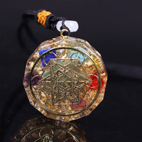 Healing 7 Chakra Orgonite Necklace