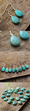Lucky Amazonite Dangle Earrings