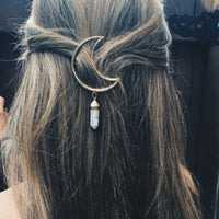 Beautiful Boho Crescent Moon Hair Clip