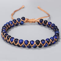 Blue Tigers Eye Courage Bracelet