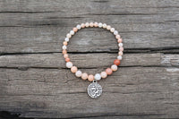 Prosperity and Love Pink Aventurine Om Bracelet