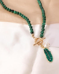 Spirit of Nature Malachite Pearl Necklace