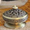 Tibetan Lotus Bronze Incense Burner