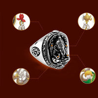 Lord Ganesha Om Stainless Steel Ring