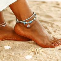 2-Layer Boho Coral Anklet