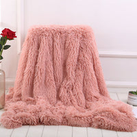 Plain Sherpa Throw Blanket