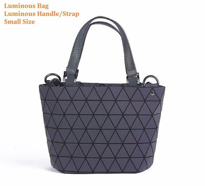 Luminous Aurora Geometric Tote