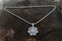Lotus Flower 7 Chakra Meditation Necklace