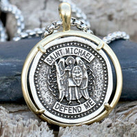 Archangel Michael Ancient Medallion Necklace
