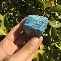 The Stone of Achievement Natural Blue Apatite