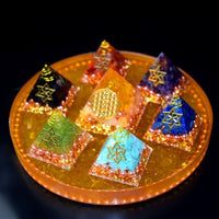 """Wheels of Life"" Orgonite Pyramid Set"