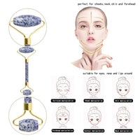 Therapeutic Sodalite Gua Sha Roller Set