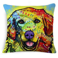 Psychedelic Printed Dog Cushion Covers 45x45cm / style 1 Decoration