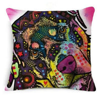 Psychedelic Printed Dog Cushion Covers 45x45cm / style 10 Decoration