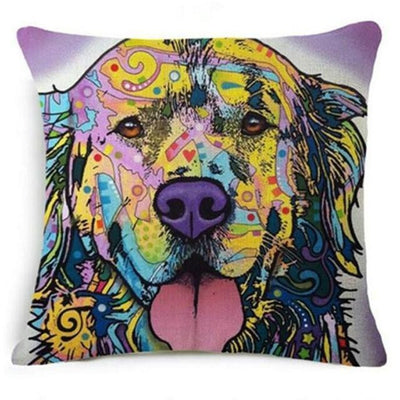 Psychedelic Printed Dog Cushion Covers 45x45cm / style 11 Decoration
