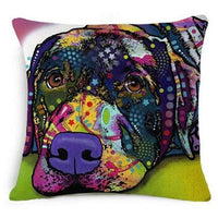 Psychedelic Printed Dog Cushion Covers 45x45cm / style 12 Decoration