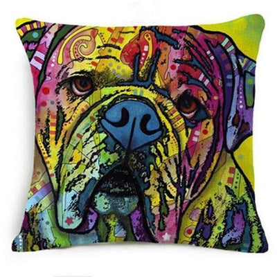 Psychedelic Printed Dog Cushion Covers 45x45cm / style 13 Decoration