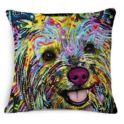 Psychedelic Printed Dog Cushion Covers 45x45cm / style 15 Decoration