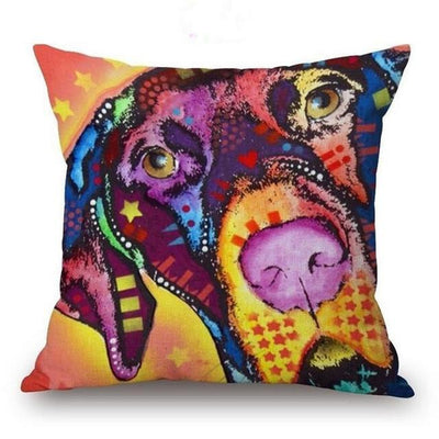 Psychedelic Printed Dog Cushion Covers 45x45cm / style 18 Decoration