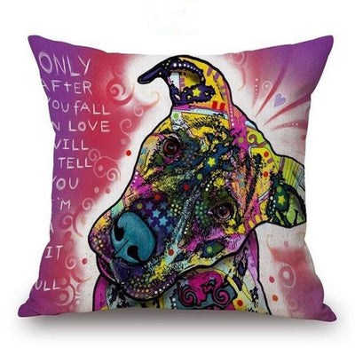 Psychedelic Printed Dog Cushion Covers 45x45cm / style 19 Decoration