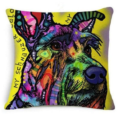 Psychedelic Printed Dog Cushion Covers 45x45cm / style 2 Decoration
