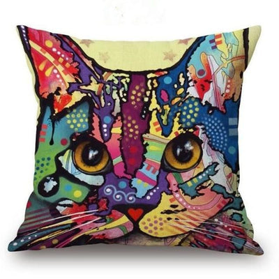 Psychedelic Printed Dog Cushion Covers 45x45cm / style 20 Decoration