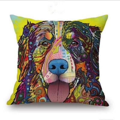 Psychedelic Printed Dog Cushion Covers 45x45cm / style 21 Decoration