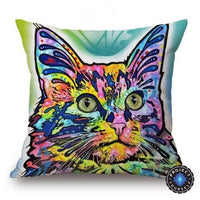 Psychedelic Printed Dog Cushion Covers 45x45cm / style 22 Decoration