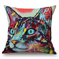 Psychedelic Printed Dog Cushion Covers 45x45cm / style 24 Decoration
