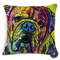 Psychedelic Printed Dog Cushion Covers 45x45cm / style 3 Decoration