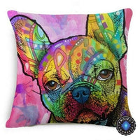 Psychedelic Printed Dog Cushion Covers 45x45cm / style 4 Decoration