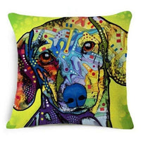 Psychedelic Printed Dog Cushion Covers 45x45cm / style 5 Decoration