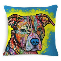 Psychedelic Printed Dog Cushion Covers 45x45cm / style 6 Decoration