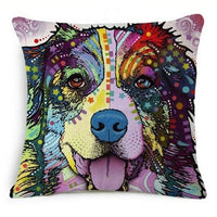 Psychedelic Printed Dog Cushion Covers 45x45cm / style 8 Decoration