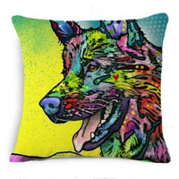 Psychedelic Printed Dog Cushion Covers 45x45cm / style 9 Decoration