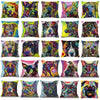 Psychedelic Printed Dog Cushion Covers Decoration
