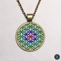 Purple Flower of Life Chakra Pendant Necklace 4