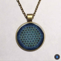 Purple Flower of Life Chakra Pendant Necklace 5