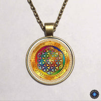 Purple Flower of Life Chakra Pendant Necklace 6