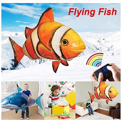 Remote Control Flying Inflatable Fish Blimp Balloon Toys