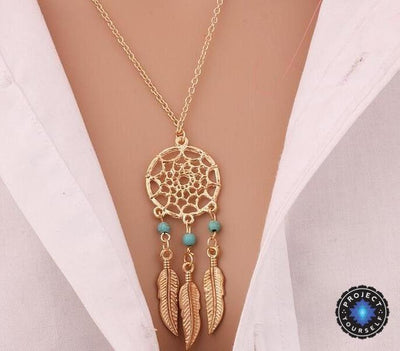 Retro Dream Catcher Pendant Necklace F Necklace