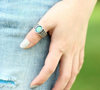 Retro Silver Mood Ring Rings
