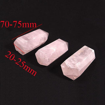 Rose Quartz Heart Stone Crystal Point 70-75mm pink Crystals