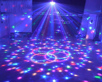 Rotating 9 Colors Crystal Ball LED Party Lights Lights