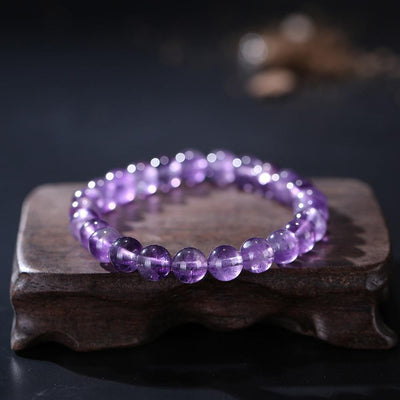 ROXY Natural Amethyst Quartz Crystal Beads Bracelet Bracelet