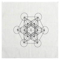 Sacred Geometry Crystal Grid Altar Cloth Tapestry