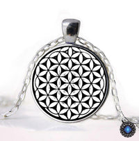 Sacred Geometry Flower of Life Pendant Necklace Necklace