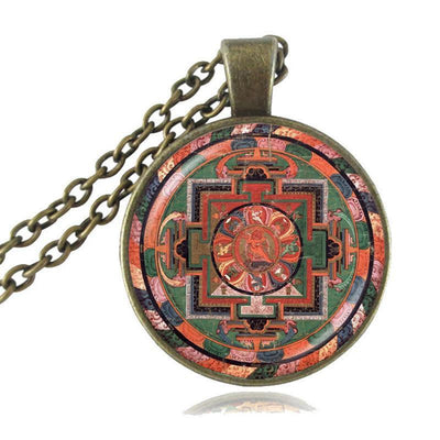 Sacred Geometry Sri Yantra Pendant Necklaces Style 8 Bronze / 45cm Necklace