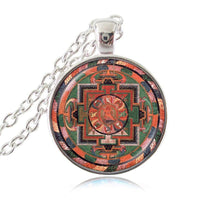 Sacred Geometry Sri Yantra Pendant Necklaces Style 8 Silver / 45cm Necklace